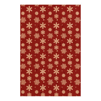 Holiday Red White Snowflakes Pattern 1 Cork Paper Prints