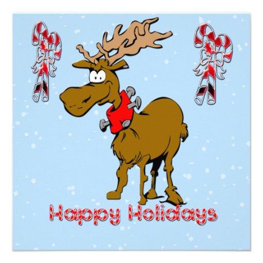 Holiday Reindeer Christmas Invitation