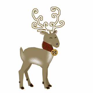 holiday reindeer photo cut out