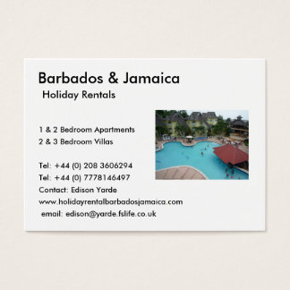 Holiday Rentals Business Card