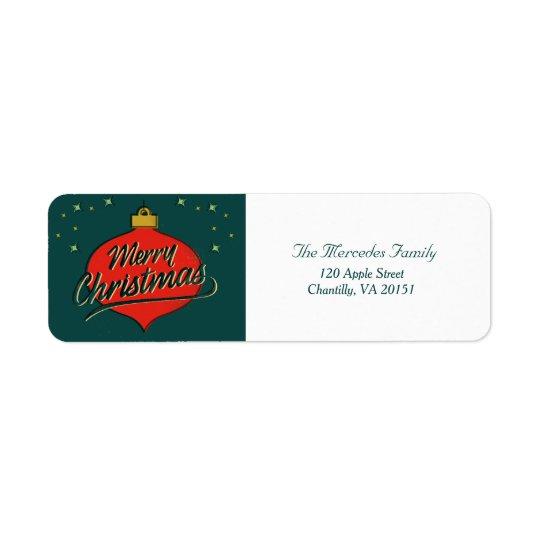 Holiday Retro Flare Return Address Label
