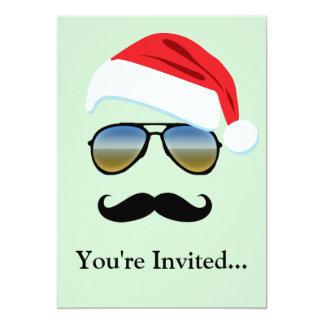 Holiday Retro Sunglasses w/ Mustache 13 Cm X 18 Cm Invitation Card