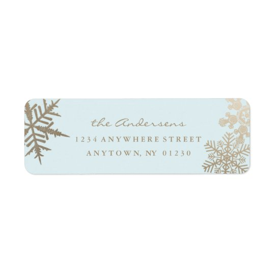 Holiday Return Address Label *Gilded Snowflake*