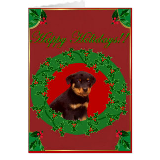 Holiday Rottweiler greeting card