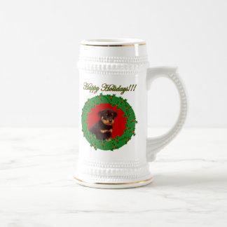 Holiday Rottweiler stein Beer Steins