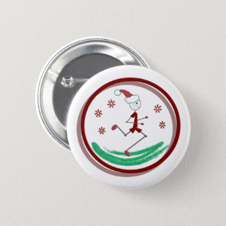 Holiday Runner Guy © 6 Cm Round Badge