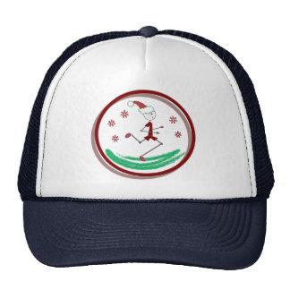 Holiday Runner Guy Trucker Hats