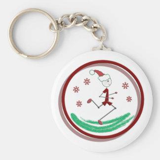 Holiday Runner Guy Keychain