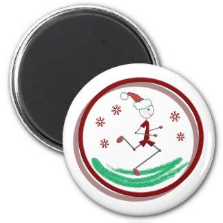 Holiday Runner Guy Refrigerator Magnets