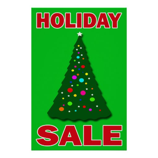 HOLIDAY SALE - RETAIL POSTER SIGN