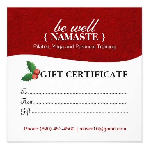 Holiday salon and spa gift certificate invite zazzle for Zazzle gift certificate