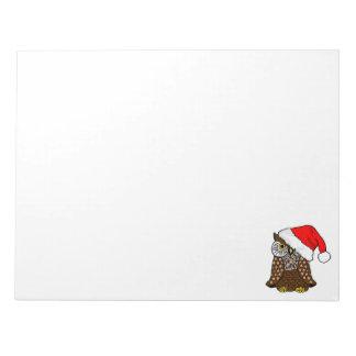 Holiday Santa Owl Notepad