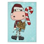 Holiday Season Gifts - Cow Greeting Card