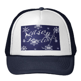 Holiday Season s Greetings Matching Blue Items Trucker Hat