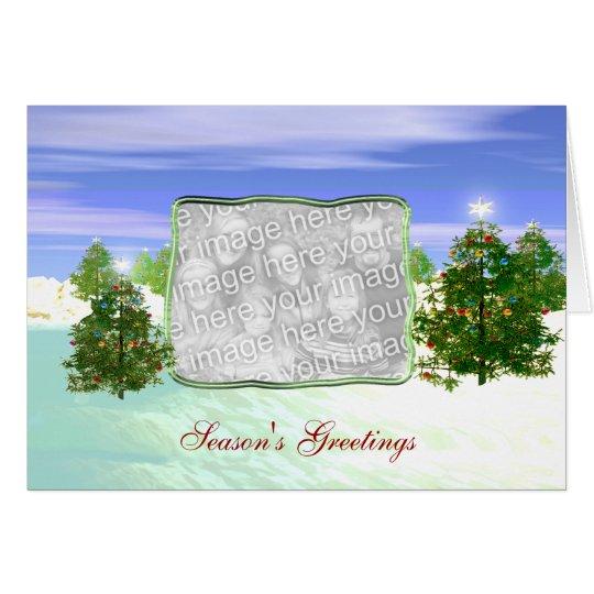 Holiday Seasonal Scene (photo frame) Card