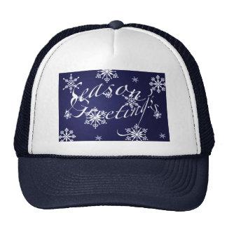 Holiday Season's Greetings Matching Blue Items Cap