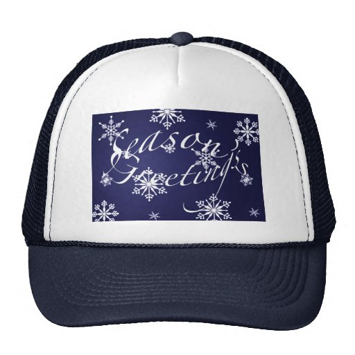 Holiday Season's Greetings Matching Blue Items Trucker Hat