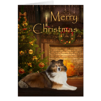 Holiday Sheltie Card