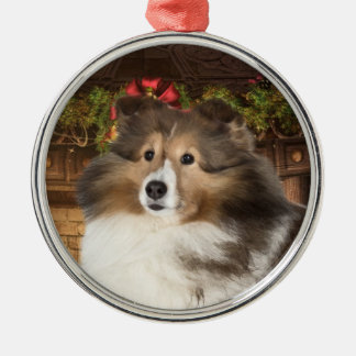 Holiday Sheltie Christmas Ornament