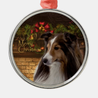 Holiday Sheltie Ornament