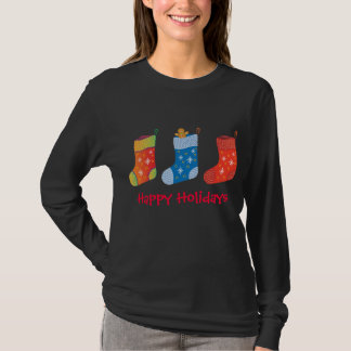 Holiday shirt with stockings - Teens & Womens