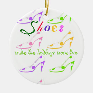 Holiday Shopping for Girls Who Love Shoes Christmas Ornament