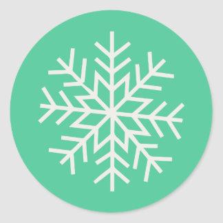 Holiday Sleigh Ride // Sticker (turquoise)
