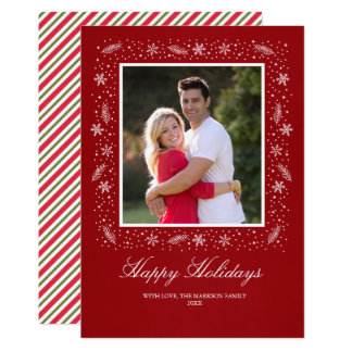 Holiday Snow Card