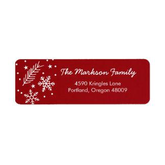 Holiday Snow Return Address Label