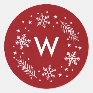 Holiday Snow Round Sticker