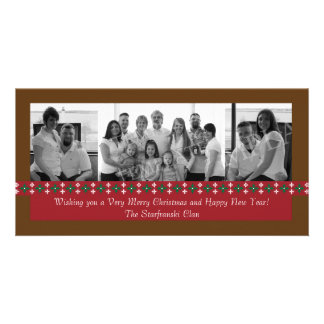 Holiday Snowflake Photo Card