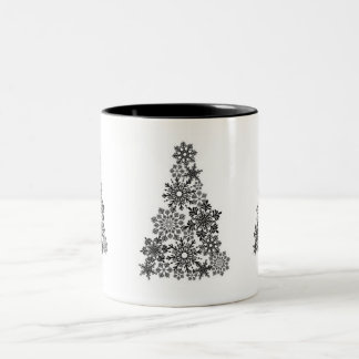 Holiday Snowflake Tree Coffee Mug