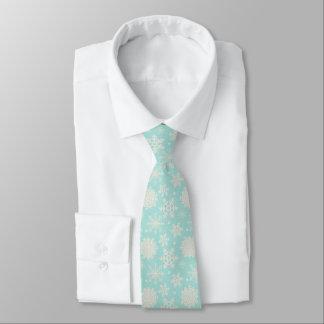 Holiday Snowflake Winter Wedding Christmas Tie