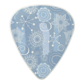 Holiday Snowflakes and Stars Background Acetal Guitar Pick