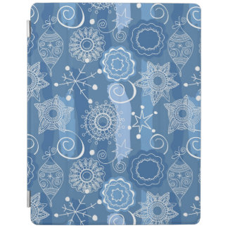 Holiday Snowflakes and Stars Background iPad Cover