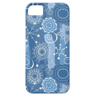 Holiday Snowflakes and Stars Background iPhone 5 Cases