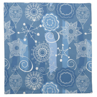 Holiday Snowflakes and Stars Background Napkin