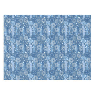 Holiday Snowflakes and Stars Background Tablecloth