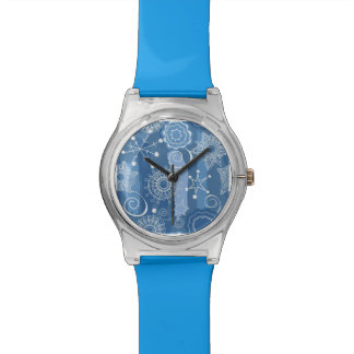 Holiday Snowflakes and Stars Background Watch