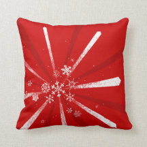 Holiday Snowflakes Custom Colour Pillow