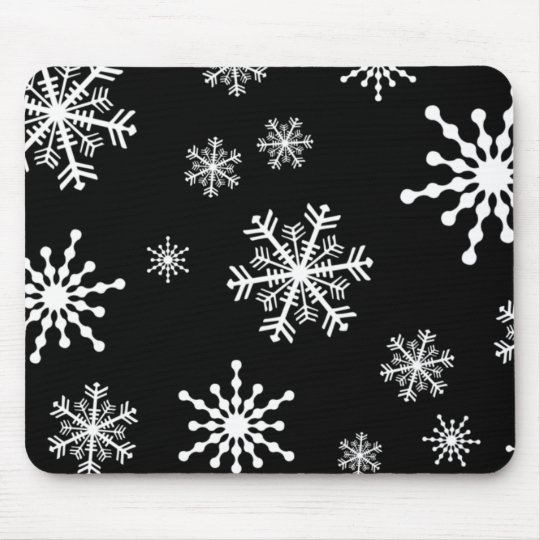 Holiday Snowflakes Mouse Mat