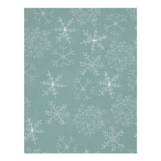 Holiday Snowflakes Pattern 21.5 Cm X 28 Cm Flyer