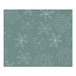 Holiday Snowflakes Pattern Poster