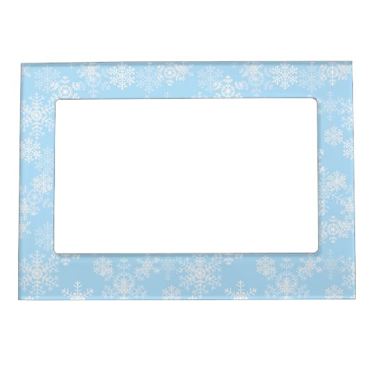 Holiday Snowflakes Picture Frame
