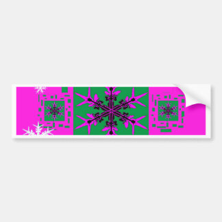 Holiday Snowflakes Purple Gifts Bumper Sticker