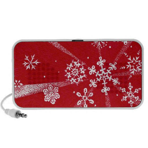 Holiday Snowflakes Travel Speakers