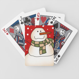 Holiday Snowman Bicycle Playing Cards