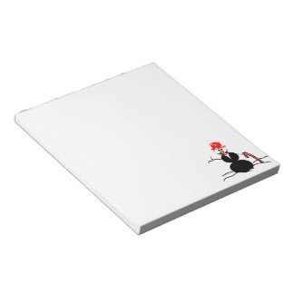 Holiday Snowman Notepad