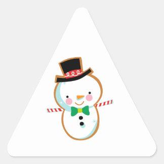 Holiday Snowman Triangle Sticker