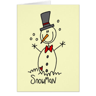 Holiday Snowman T-shirts and Gifts Cards